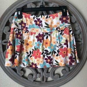 Gymboree brand knit floral skirt